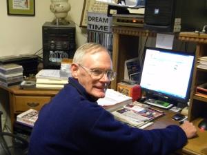 Author Jack Tuttle at his desk
